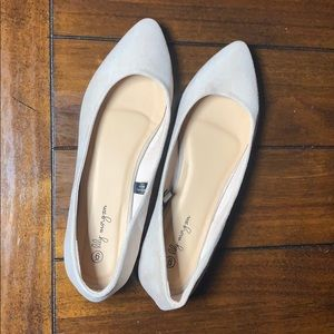 LILY MORGAN || Cream Pointed Toe Flats